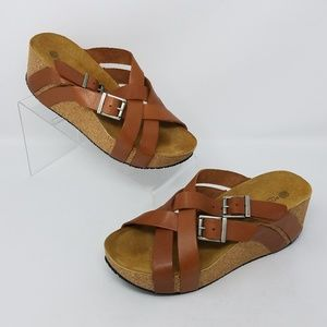 Eric Michael Womens Wedged Sandals